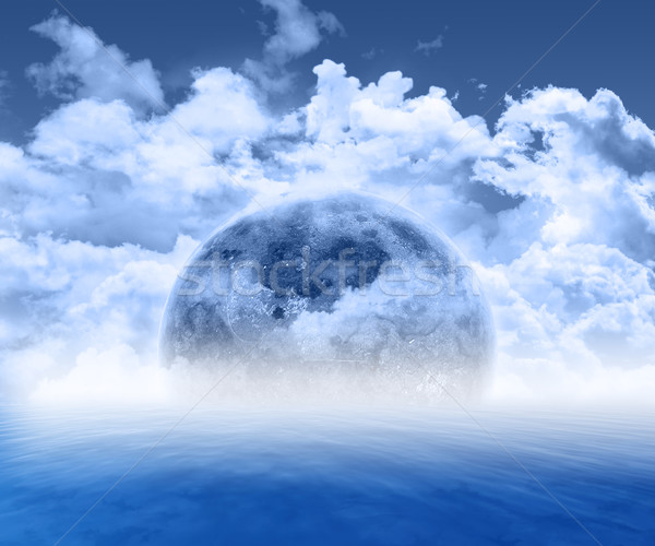 Abstract 3d planet scene Stock photo © kjpargeter