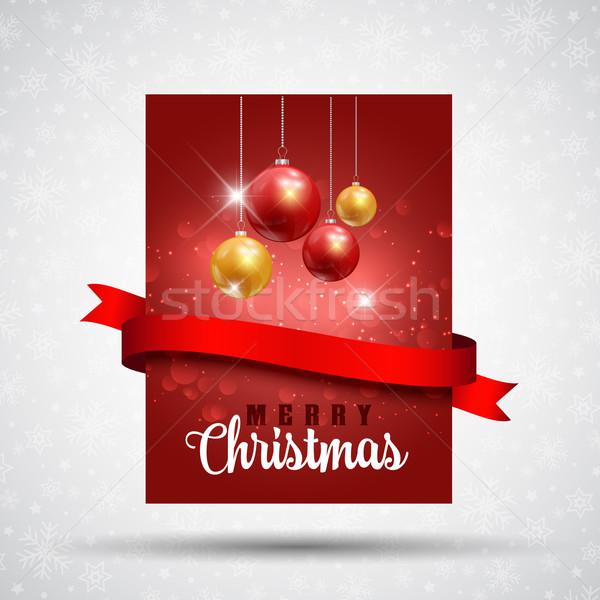 Christmas flyer background  Stock photo © kjpargeter