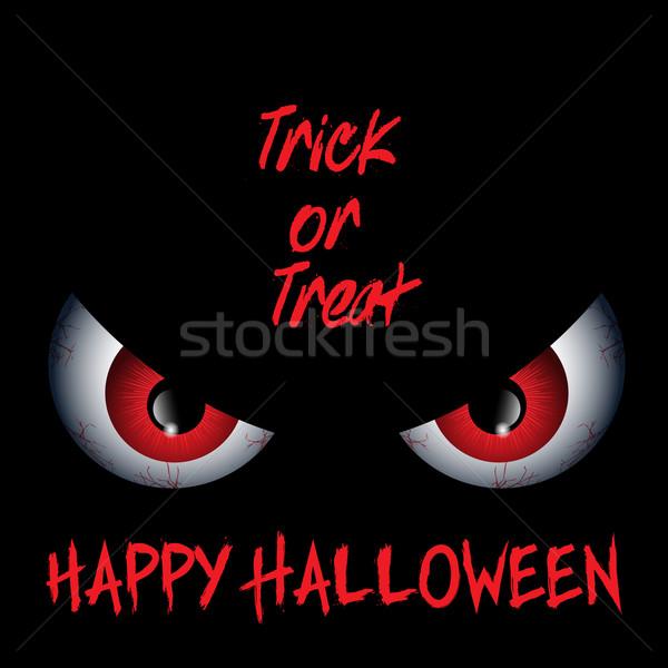 Lol olhos halloween celebração assustador vetor Foto stock © kjpargeter