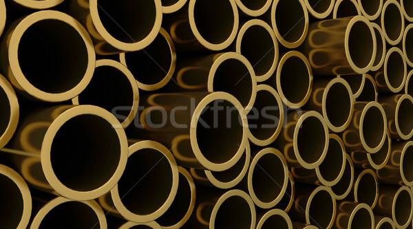 Cobre tubería 3d tuberías fondo metal Foto stock © kjpargeter