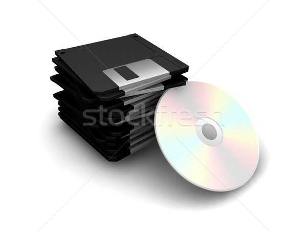 Floppy disks and CD Stock photo © kjpargeter