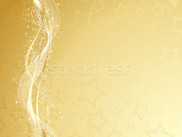 Golden Christmas Stock photo © kjpargeter