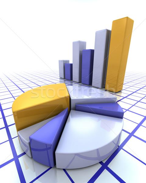 Bar chart and pie chart Stock photo © kjpargeter