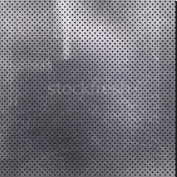 Scratched perforated metal background Stock photo © kjpargeter