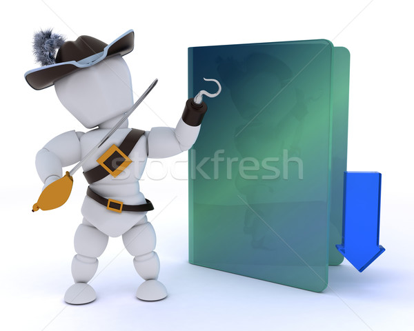 pirate depicting illegal downloads Stock photo © kjpargeter