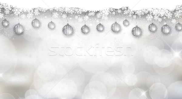 Silver Christmas background  Stock photo © kjpargeter