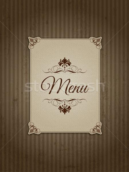 Klasszikus menü terv stílus grunge textúra étterem Stock fotó © kjpargeter