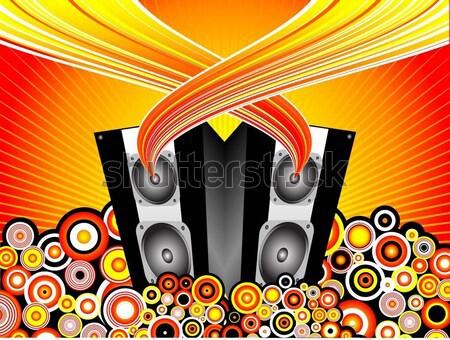 Zdjęcia stock: Muzyki · kobiet · kobieta · włosy · piękna · disco