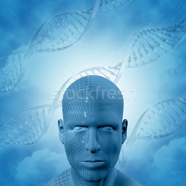 3D médico dna masculino cara homem Foto stock © kjpargeter