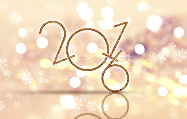 Happy New Year snowflake background Stock photo © kjpargeter