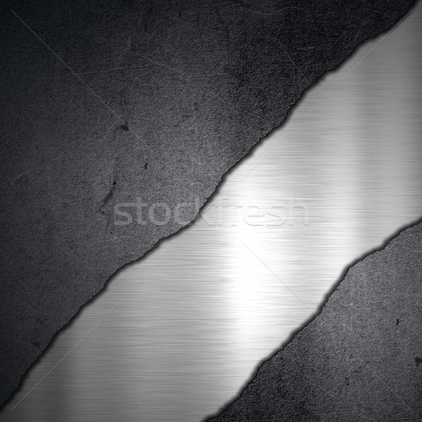 Grunge concrete and brushed metal background Stock photo © kjpargeter