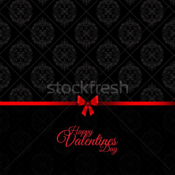 ダマスク織 バレンタインデー スタイル パターン リボン 休日 ストックフォト © kjpargeter