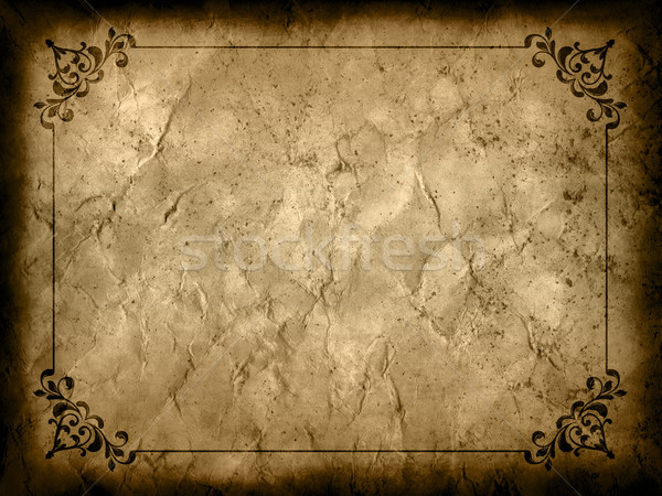 Grunge background with decorative border Stock photo © kjpargeter