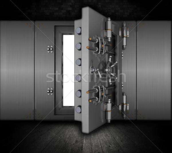 Grunge bank agykoponya illusztráció belső pénz Stock fotó © kjpargeter