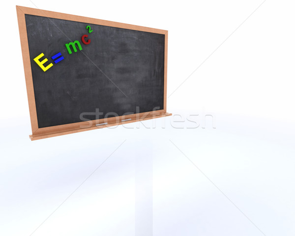 Chalkboard with magnetic letters Stock photo © kjpargeter
