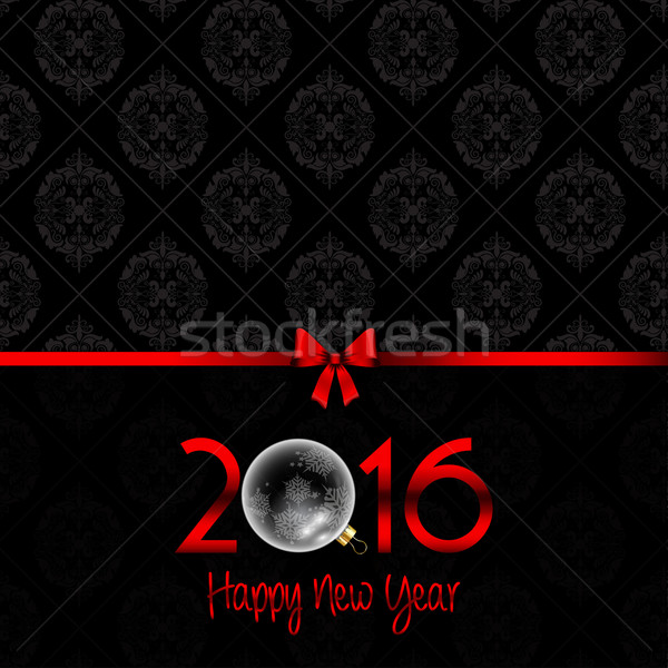 Happy New Year background with Damask pattern  Stock photo © kjpargeter