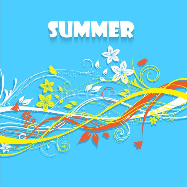 Floral summer background Stock photo © kjpargeter
