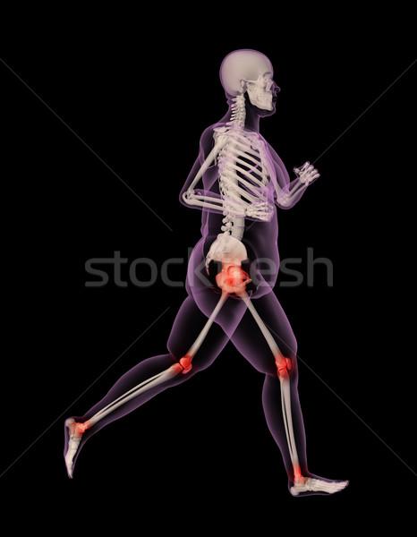 Sovrappeso femminile medici scheletro esecuzione rendering 3d Foto d'archivio © kjpargeter