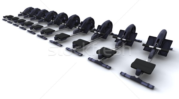 rowing machine Stock photo © kjpargeter
