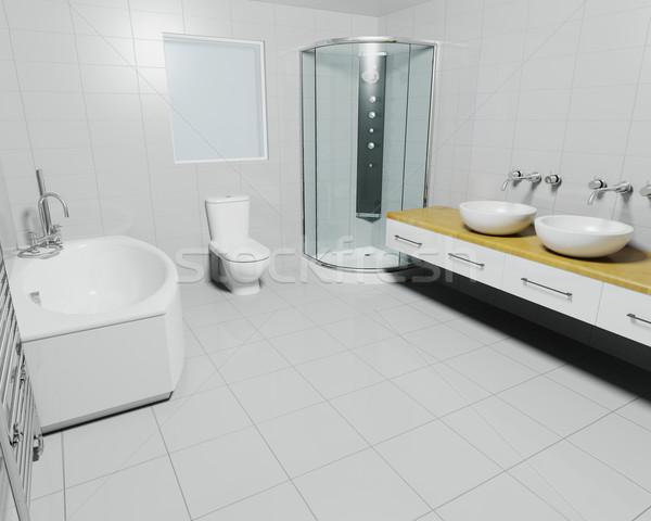 çağdaş banyo 3d render oda banyo duş Stok fotoğraf © kjpargeter