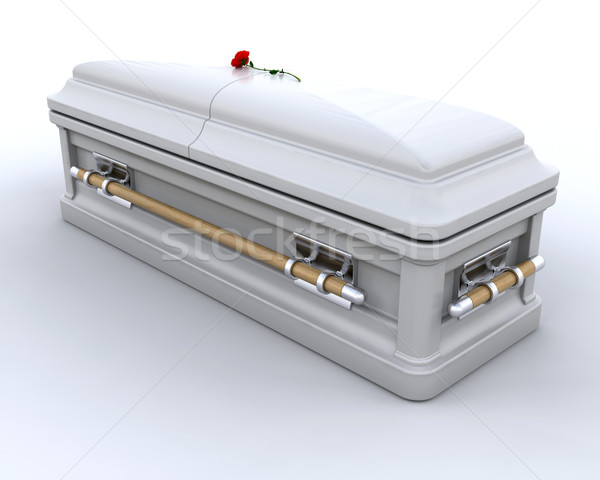 Begrafenis 3d render kist graf begrafenis Stockfoto © kjpargeter