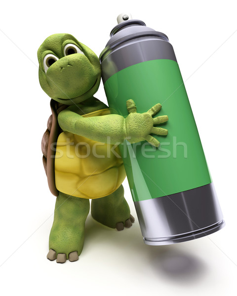 Tortoise with spray can Stock photo © kjpargeter