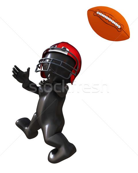 男 演奏 アメリカン サッカー 3dのレンダリング ストックフォト © kjpargeter