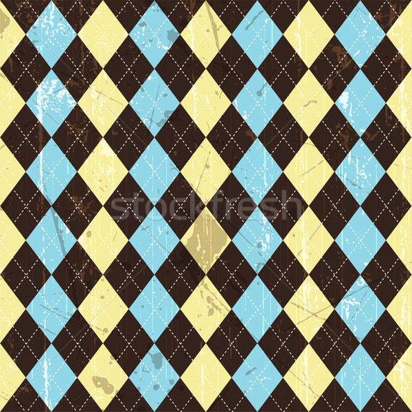 Grunge argyle background  Stock photo © kjpargeter