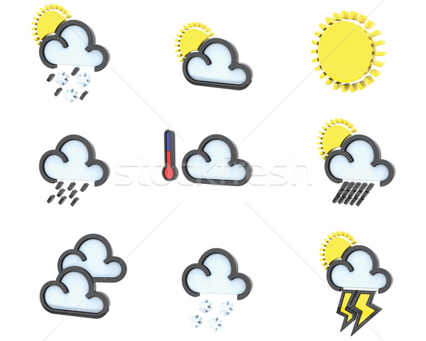weather icon set no 1 Stock photo © kjpargeter