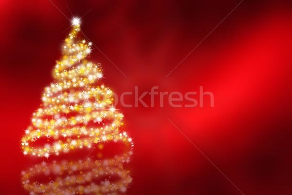 Karácsonyfa fa háttér csillag karácsony hideg Stock fotó © kjpargeter