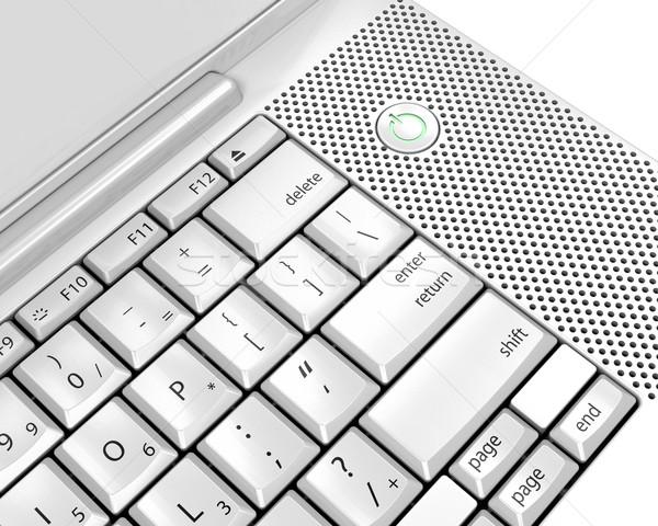 Tastiera del computer portatile rendering 3d computer internet laptop tastiera Foto d'archivio © kjpargeter