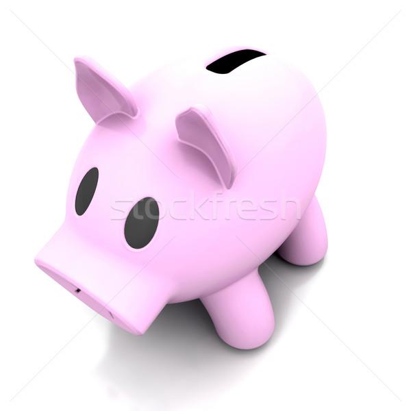 Kumbara 3d render iş para finanse beyaz Stok fotoğraf © kjpargeter