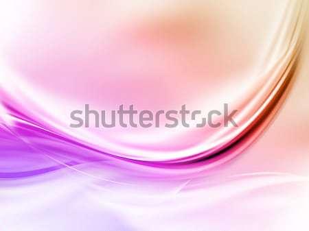 ストックフォト: 虹 · 抽象的な · 背景 · 波 · カラー · 実例