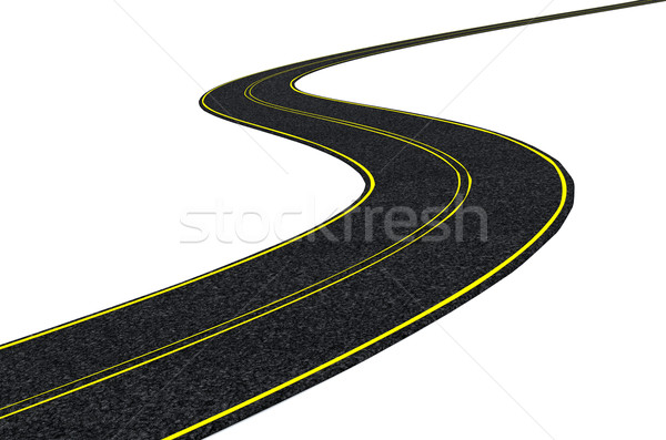 Pista carretera 3d velocidad movimiento asfalto Foto stock © kjpargeter