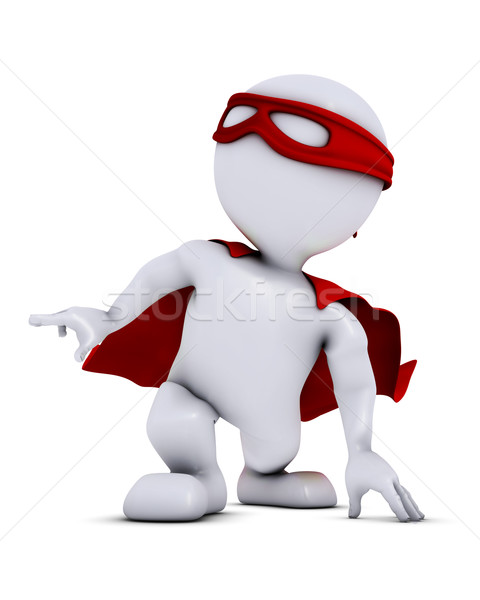 3D Morph Man super hero Stock photo © kjpargeter