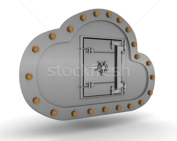 онлайн хранения облаке 3d визуализации Сток-фото © kjpargeter
