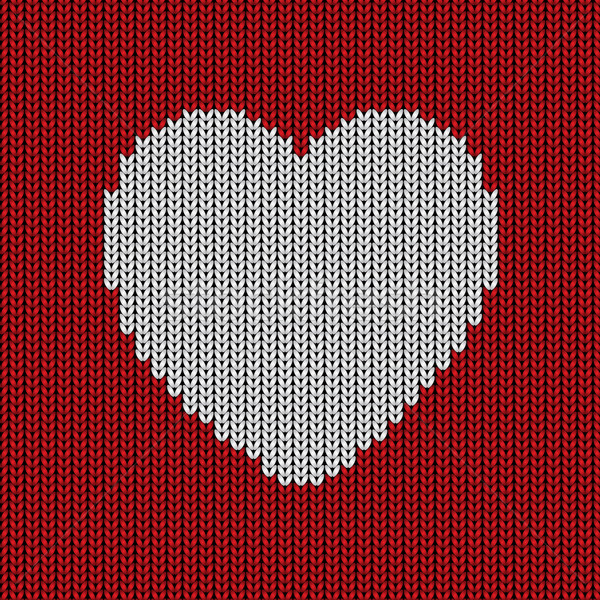 Knitted heart background Stock photo © kjpargeter