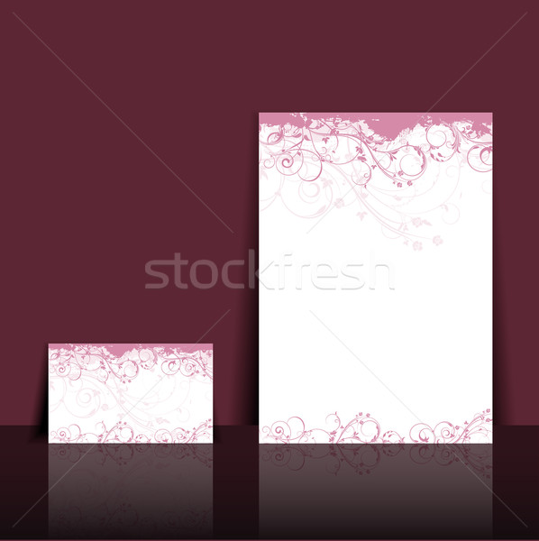 Floral letterhead and business card design Stock photo © kjpargeter