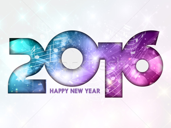 Happy New Year music notes background  Stock photo © kjpargeter