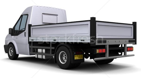 Foto stock: Cama · tem · 3d · render · caminhão · viajar · transporte