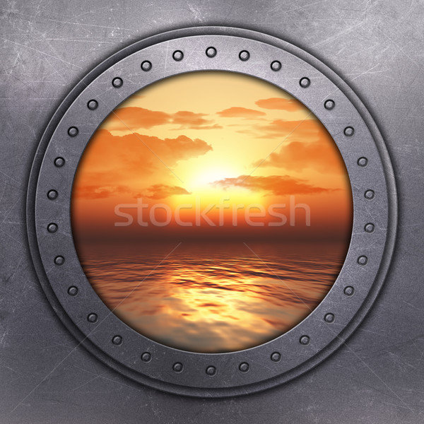 Port Hole looking out onto the ocean Stock photo © kjpargeter