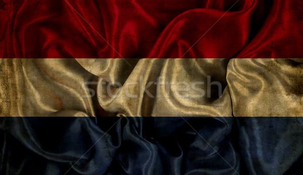 Grunge Netherlands flag background Stock photo © kjpargeter