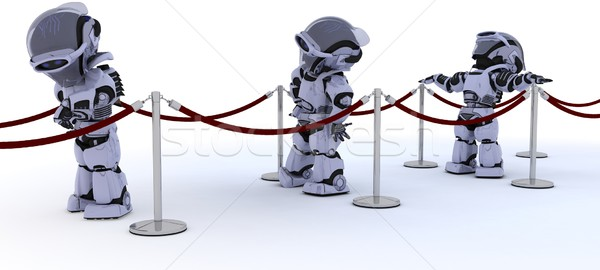 Robots waiting in line Stock photo © kjpargeter