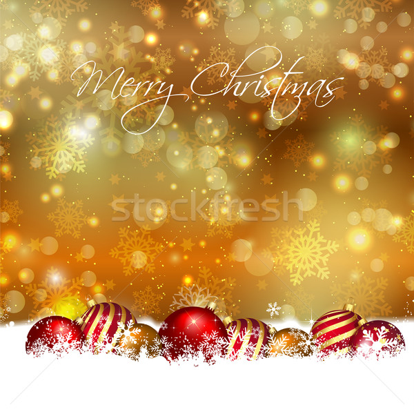 Christmas baubles background  Stock photo © kjpargeter