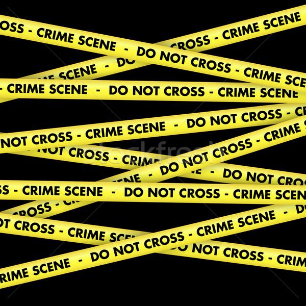 Cena do crime fita fundo amarelo não atravessar Foto stock © kjpargeter