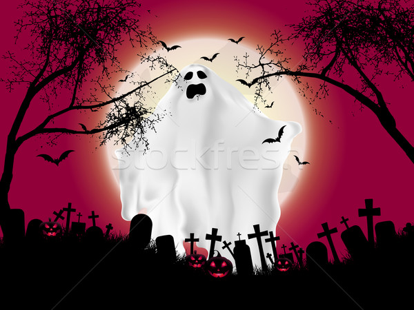 Halloween ghost background Stock photo © kjpargeter