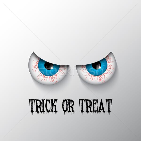 Halloween gonosz szemek trükk csemege Stock fotó © kjpargeter