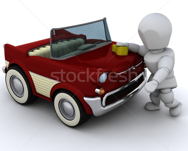 man washing a car Stock photo © kjpargeter