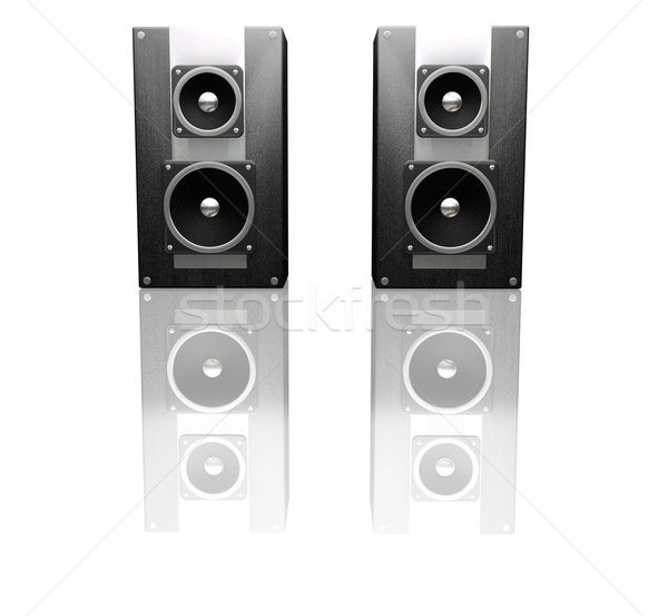 Black speakers Stock photo © kjpargeter
