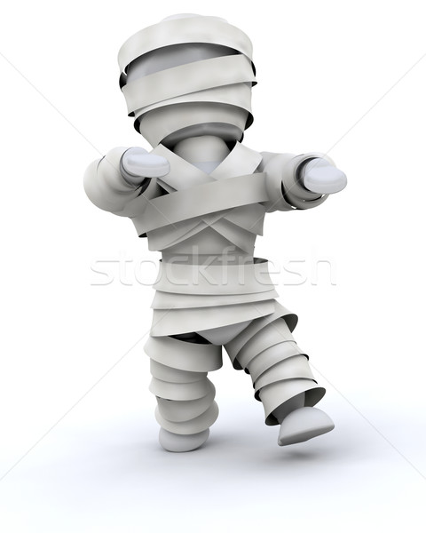 man in halloween mummy costume Stock photo © kjpargeter